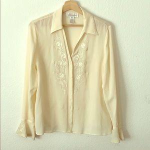 Jones New York silk shirt-12